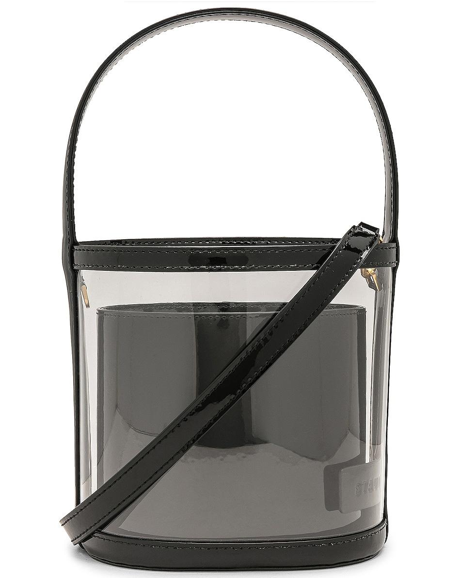 Image 1 of Staud Bissett Bag in Black & Clear