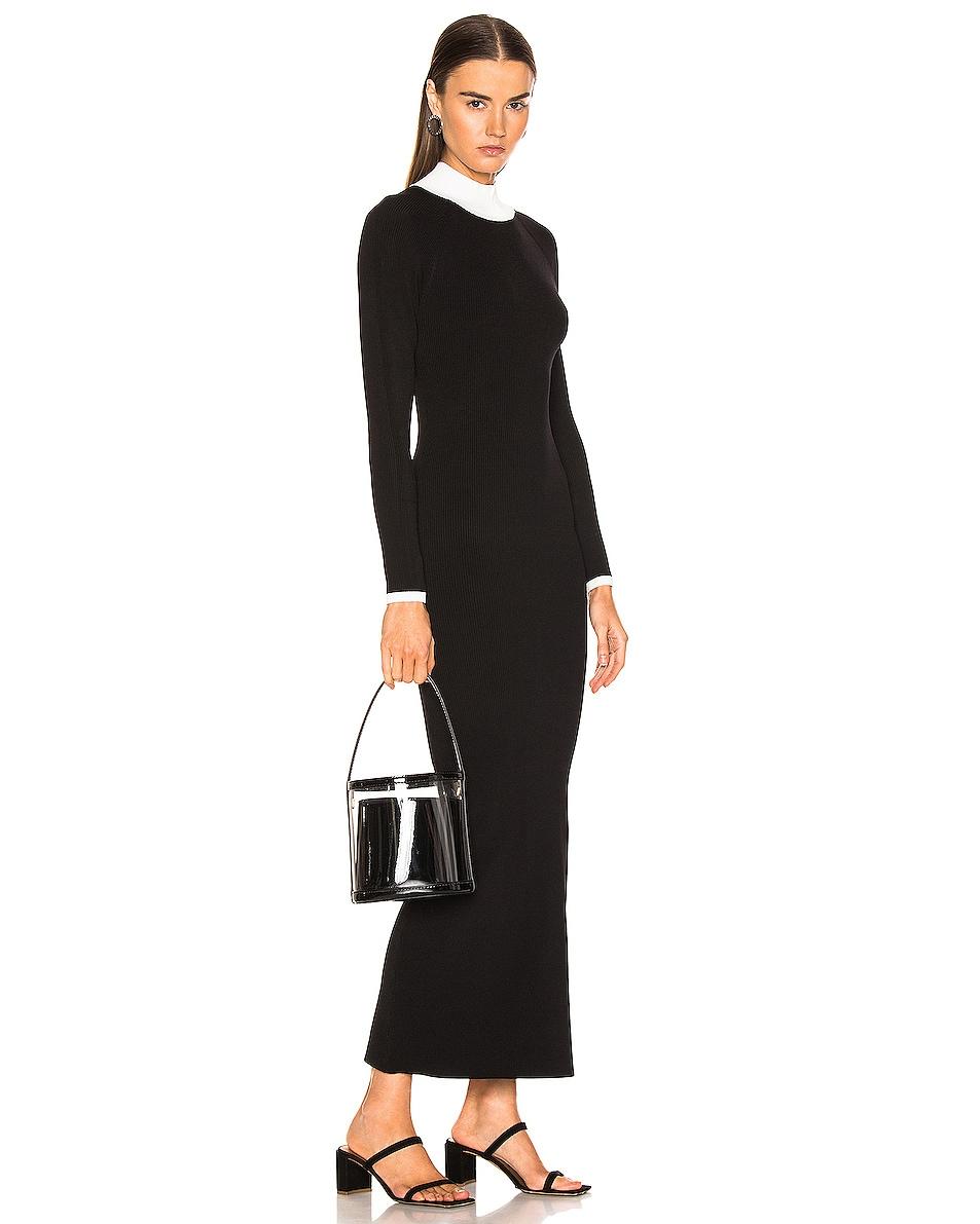 Image 2 of Staud Bissett Bag in Black & Clear