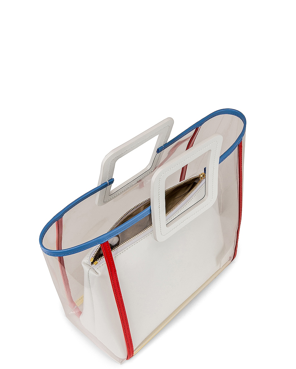 Image 5 of Staud Framed Shirley Bag in Clear & Soft Cream Multi