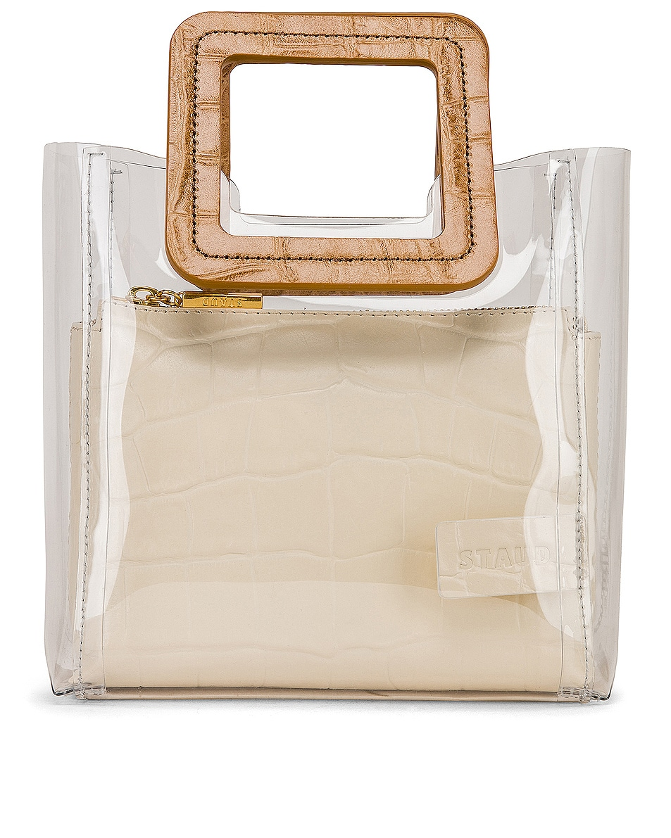 Image 1 of Staud Mini Shirley in Clear, Camel & White