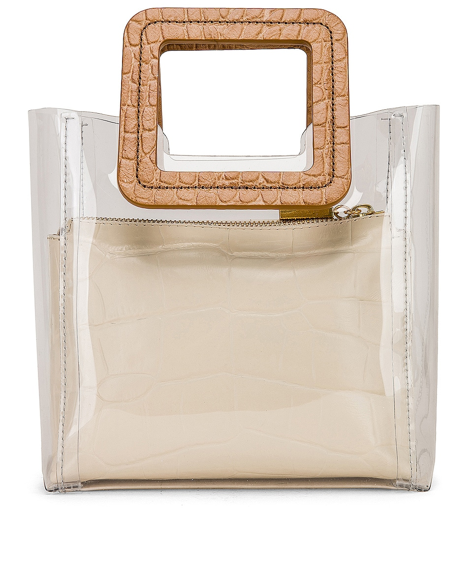 Image 3 of Staud Mini Shirley in Clear, Camel & White