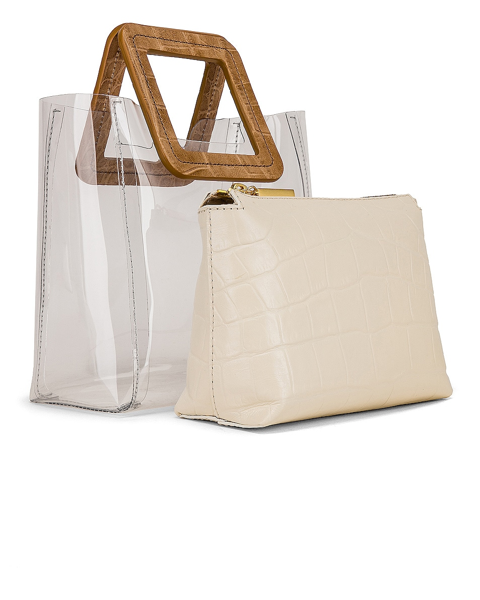 Image 4 of Staud Mini Shirley in Clear, Camel & White