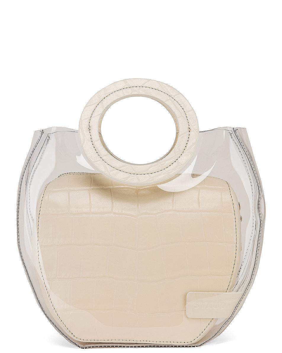 Image 1 of Staud Frida Bag in Clear & Cream