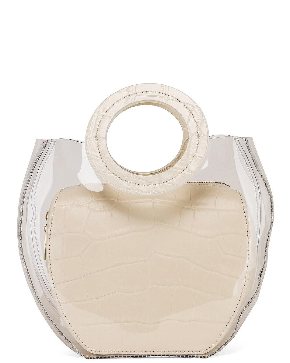 Image 3 of Staud Frida Bag in Clear & Cream