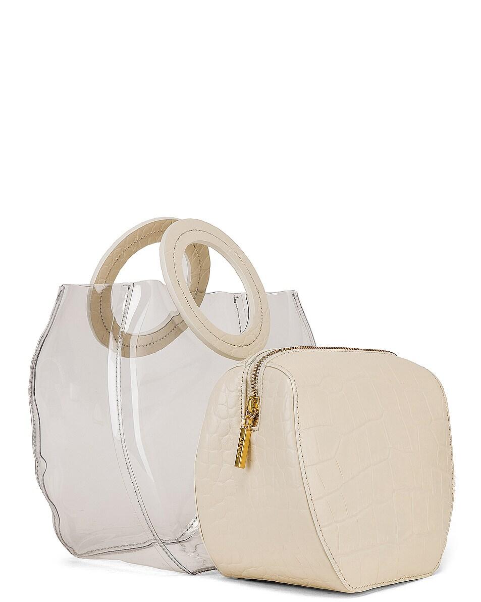 Image 4 of Staud Frida Bag in Clear & Cream