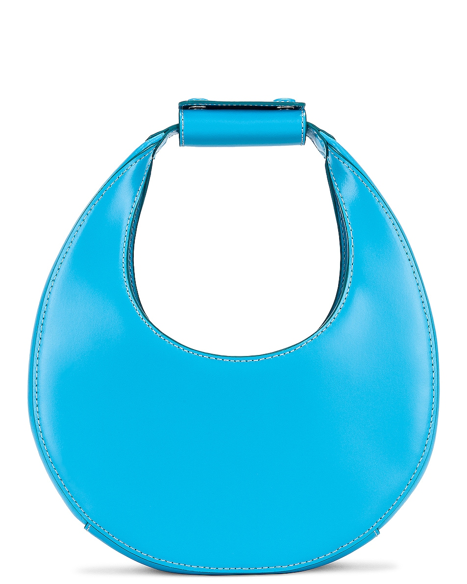 Image 1 of Staud Mini Moon Bag in Bright Blue