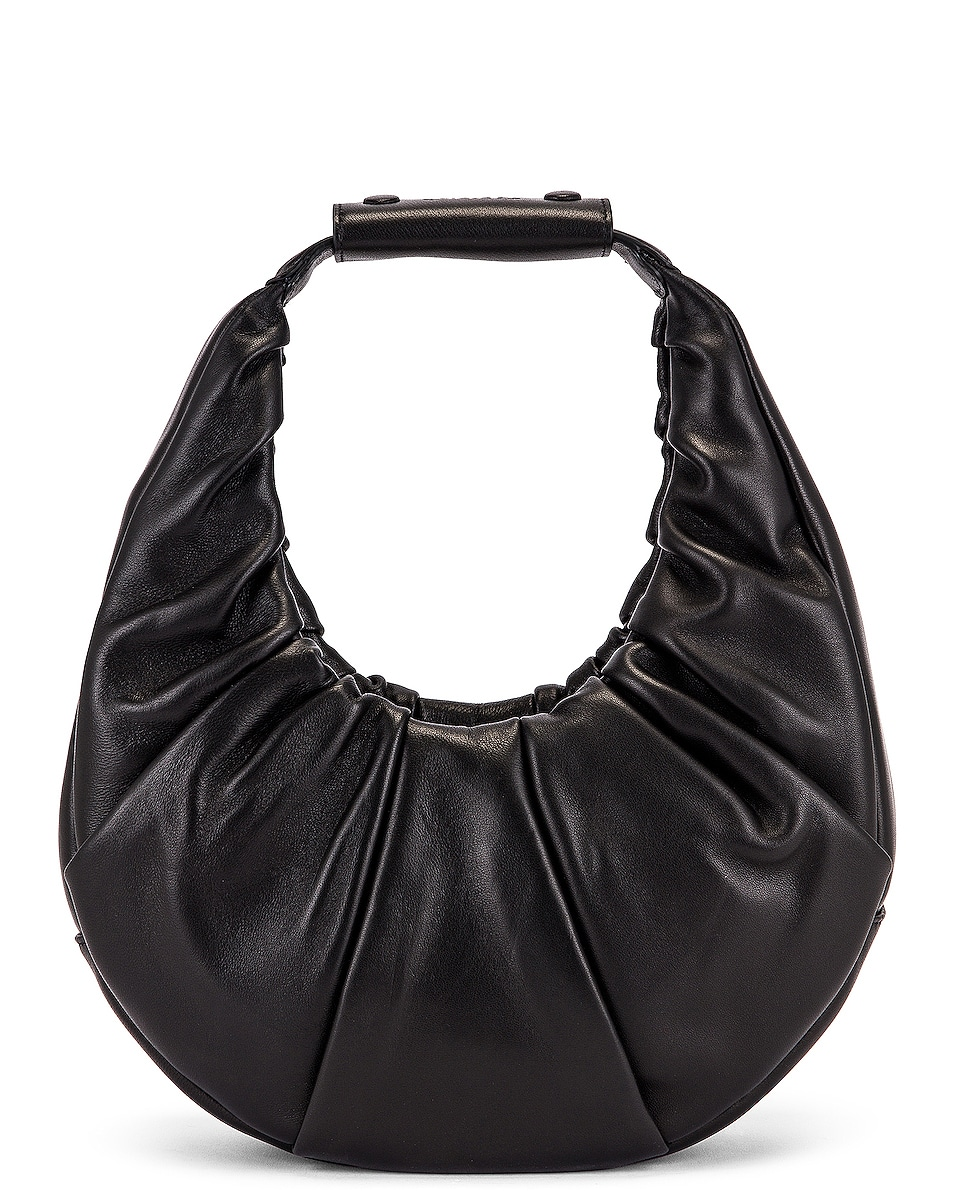 Image 1 of Staud Soft Moon Bag in Black