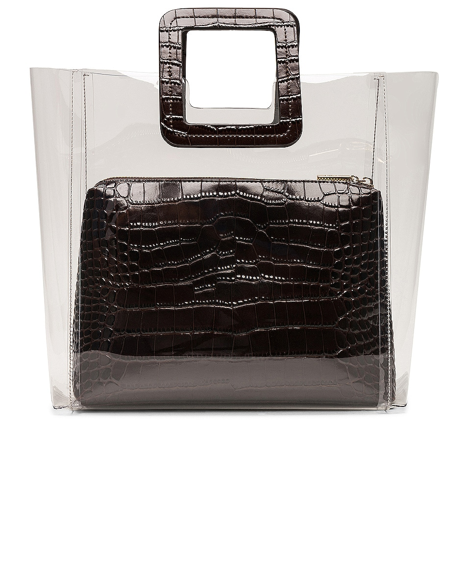 Image 3 of Staud Shirley Bag in Brown Faux Croc