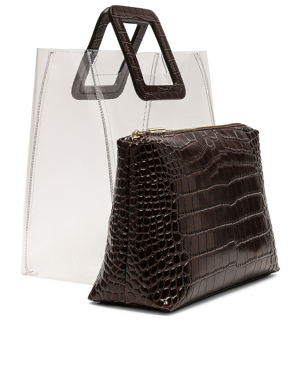 Image 4 of Staud Shirley Bag in Brown Faux Croc