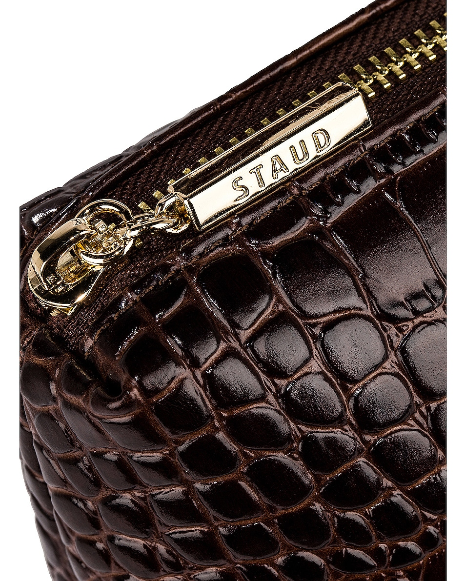 Image 7 of Staud Shirley Bag in Brown Faux Croc