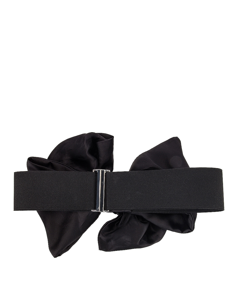 Image 2 of SILVIA TCHERASSI Callia Bow Belt in Black