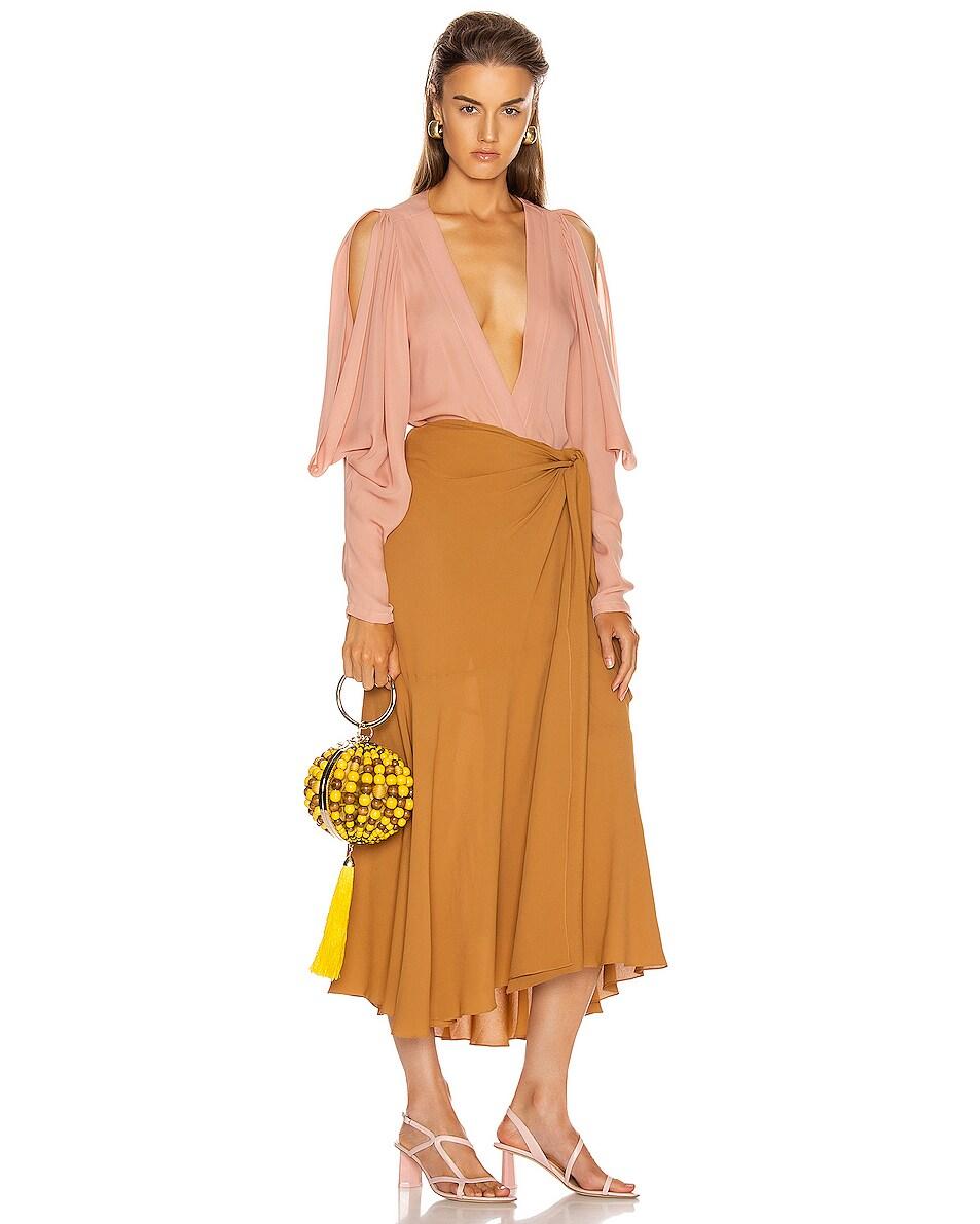 Image 2 of SILVIA TCHERASSI x Rosantica Goby Bag in Orange & Yellow Beads