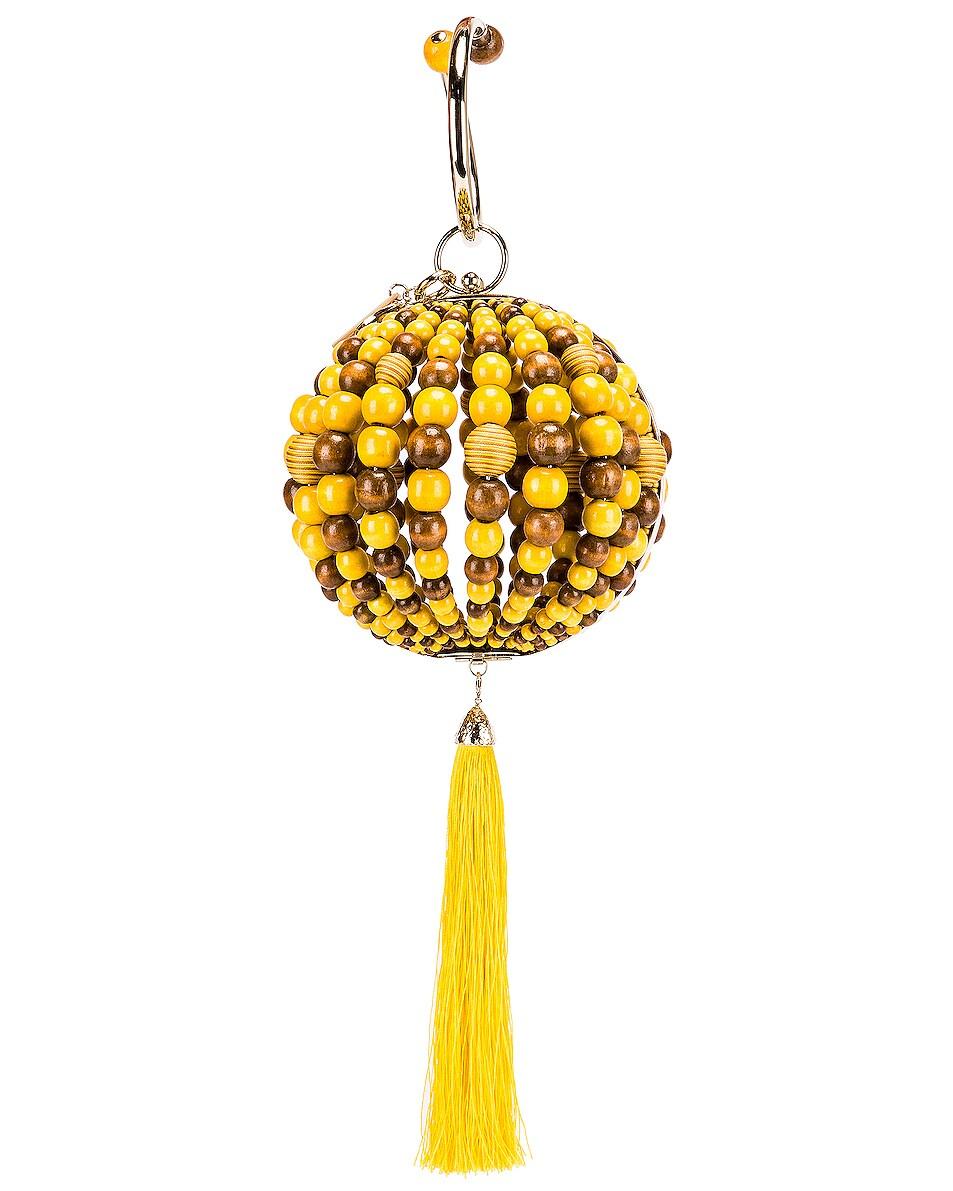 Image 3 of SILVIA TCHERASSI x Rosantica Goby Bag in Orange & Yellow Beads