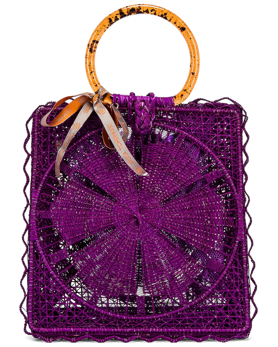 Image 1 of SILVIA TCHERASSI for FWRD Luriza Bag in Magenta