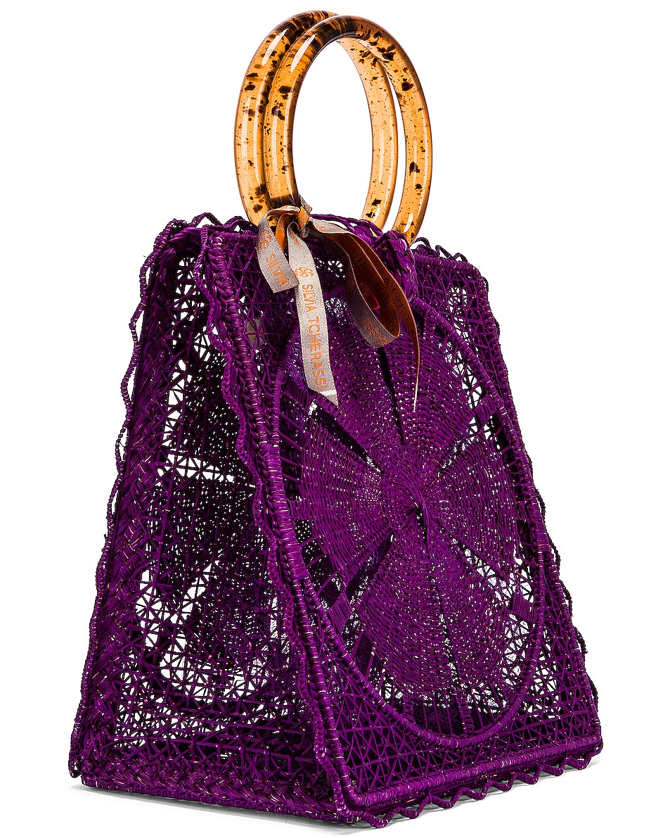 Image 4 of SILVIA TCHERASSI for FWRD Luriza Bag in Magenta
