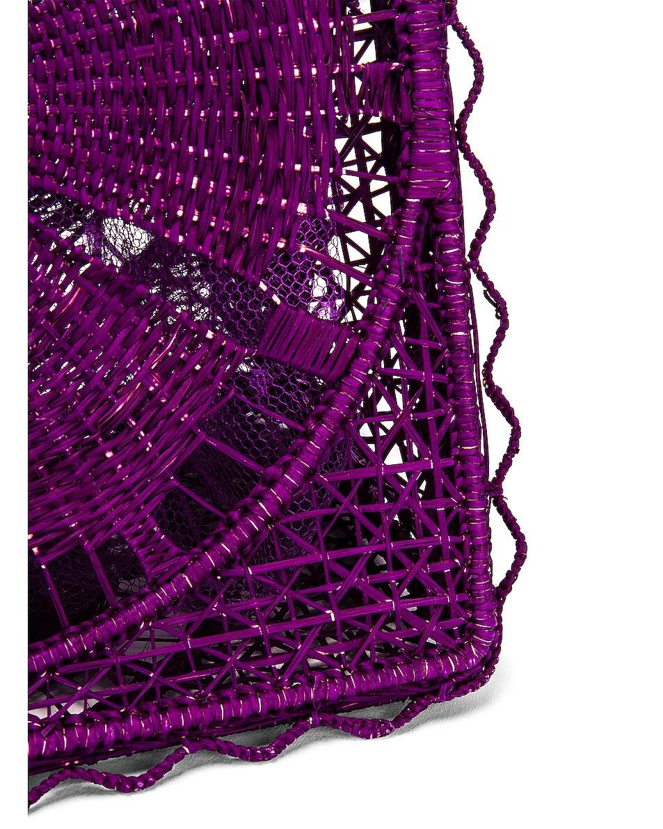 Image 7 of SILVIA TCHERASSI for FWRD Luriza Bag in Magenta