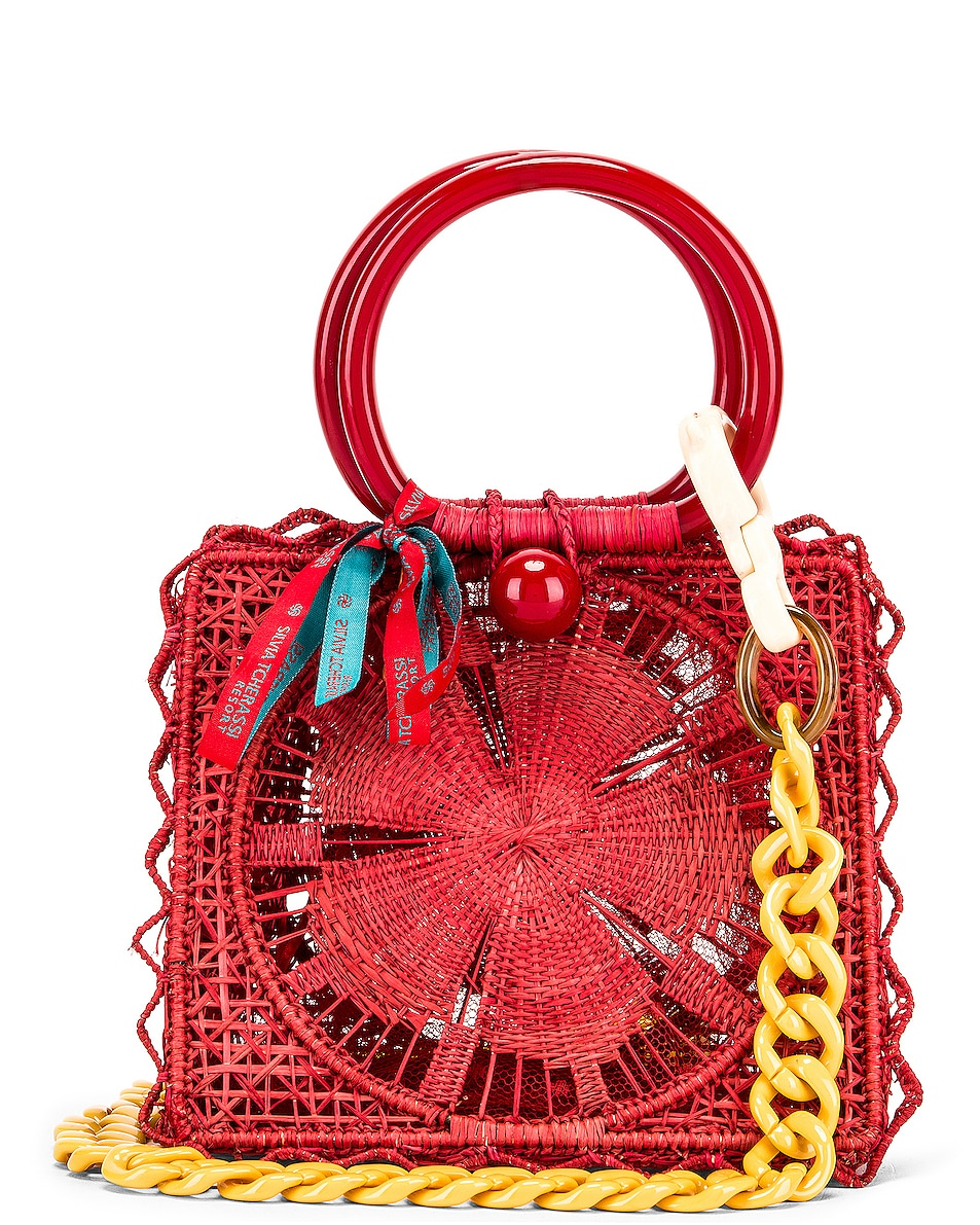 Image 1 of SILVIA TCHERASSI Camile Bag with Chain Strap in Red
