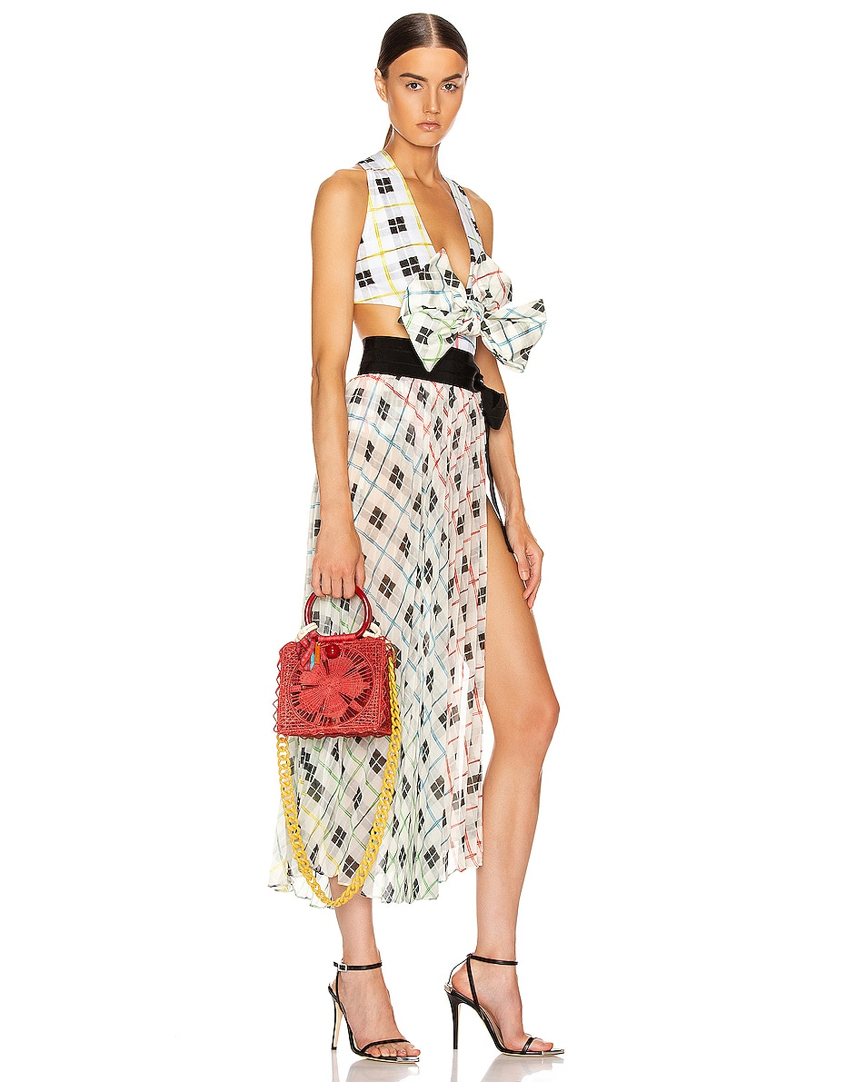 Image 2 of SILVIA TCHERASSI Camile Bag with Chain Strap in Red