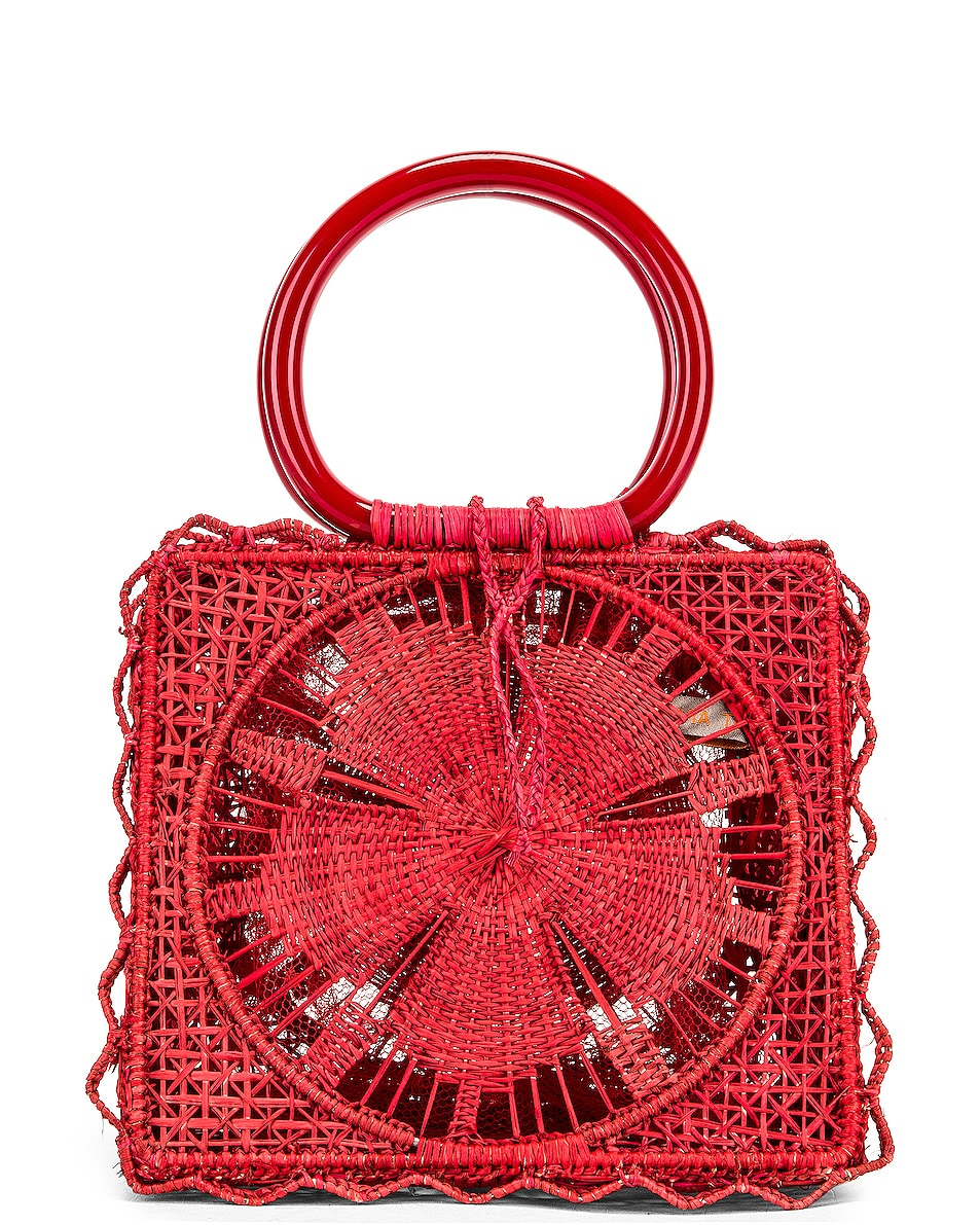 Image 3 of SILVIA TCHERASSI Camile Bag with Chain Strap in Red