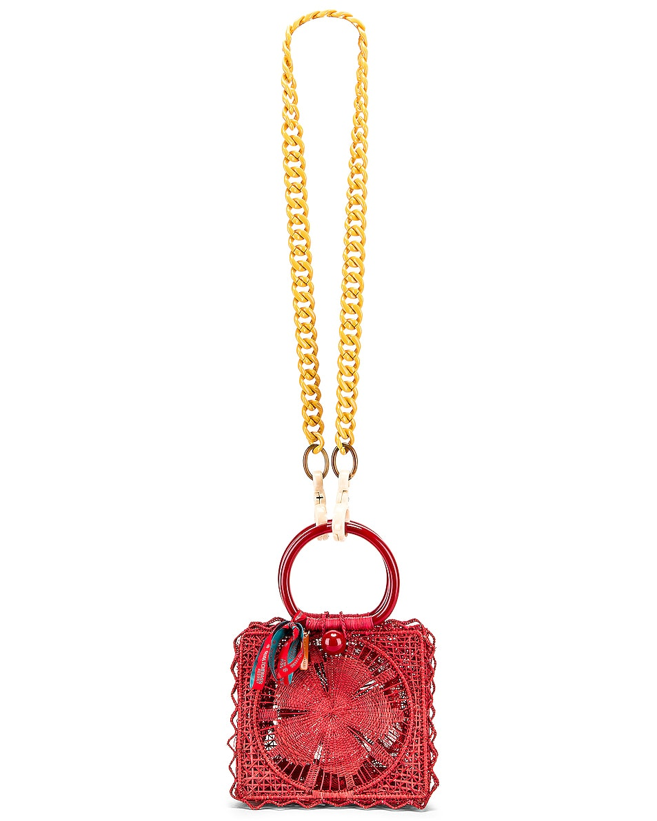 Image 6 of SILVIA TCHERASSI Camile Bag with Chain Strap in Red