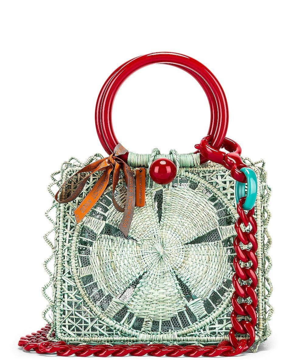 Image 1 of SILVIA TCHERASSI Camile Bag with Chain Strap in Aqua