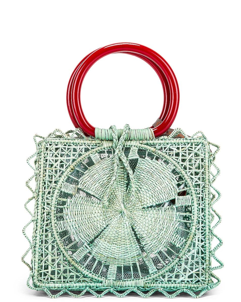 Image 3 of SILVIA TCHERASSI Camile Bag with Chain Strap in Aqua