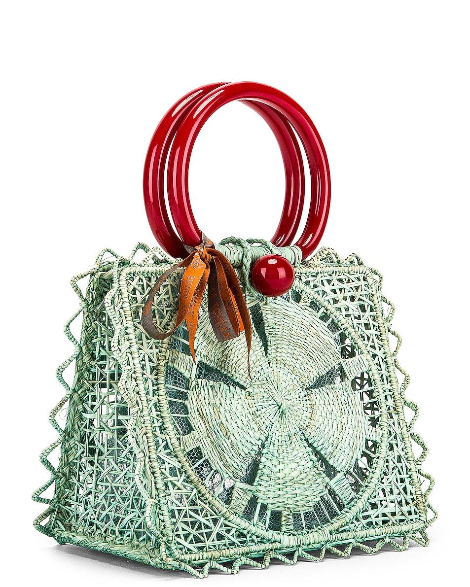 Image 4 of SILVIA TCHERASSI Camile Bag with Chain Strap in Aqua
