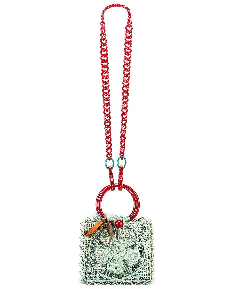 Image 6 of SILVIA TCHERASSI Camile Bag with Chain Strap in Aqua