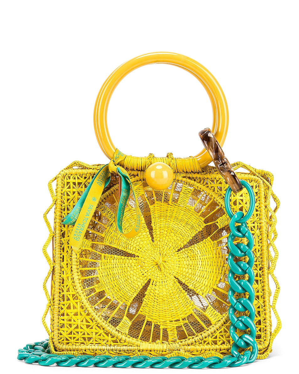 Image 1 of SILVIA TCHERASSI Camile Bag with Chain Strap in Yellow