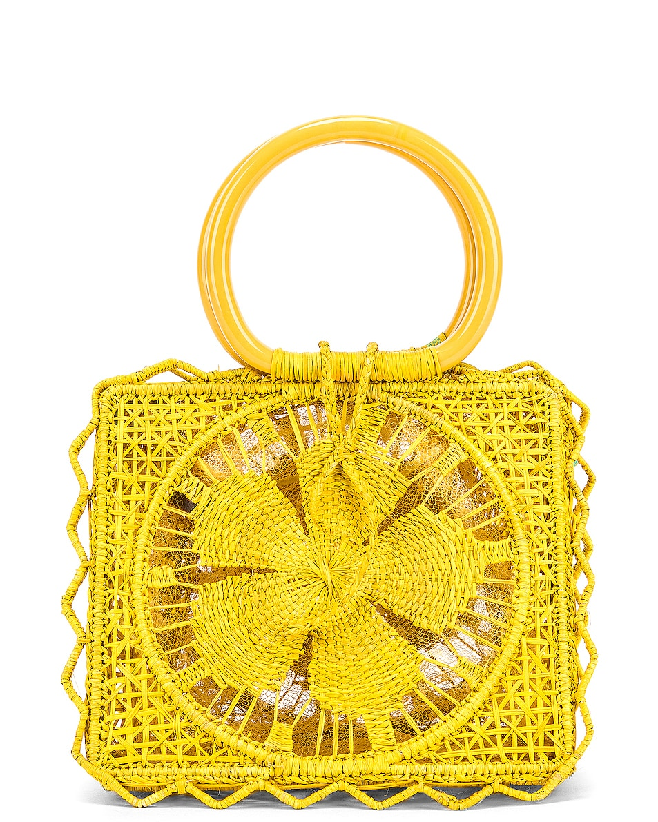 Image 3 of SILVIA TCHERASSI Camile Bag with Chain Strap in Yellow