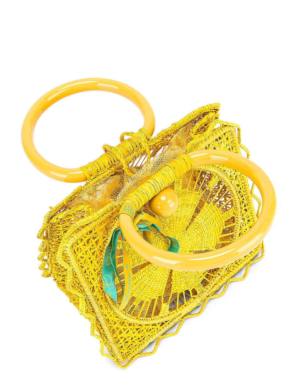 Image 5 of SILVIA TCHERASSI Camile Bag with Chain Strap in Yellow