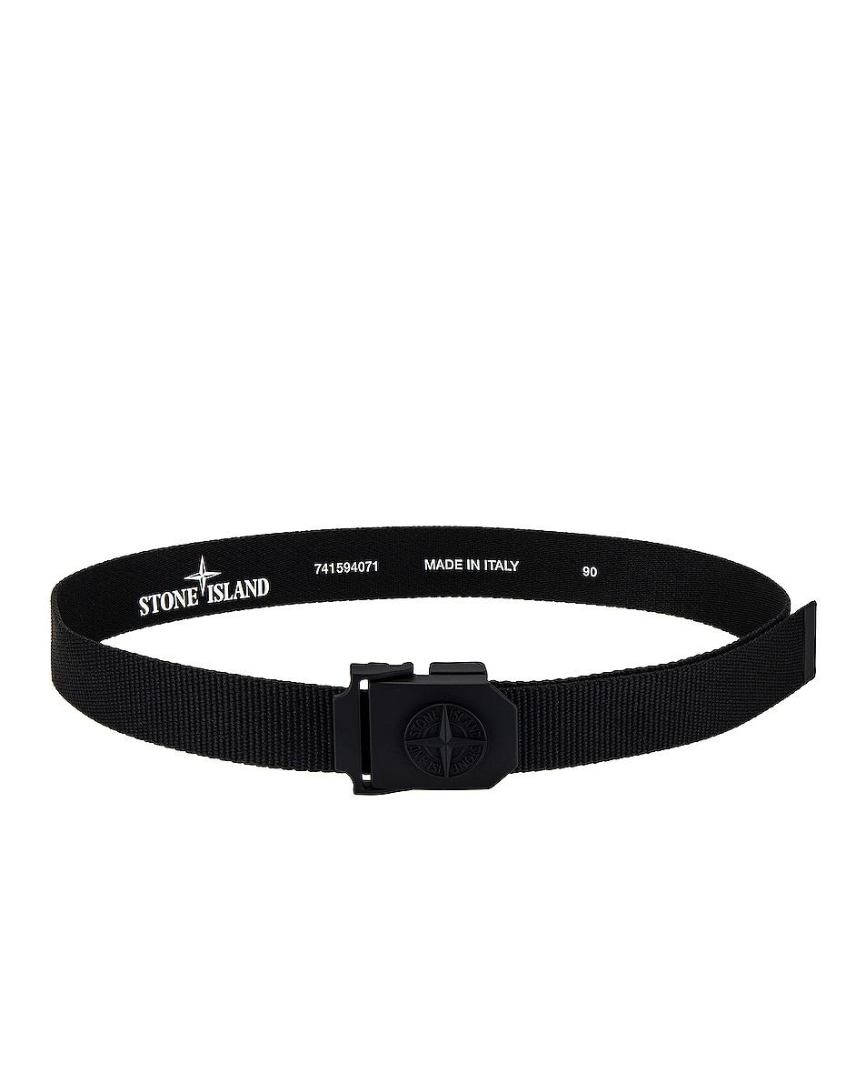 Image 1 of Stone Island Nylon Tape Belt in Black
