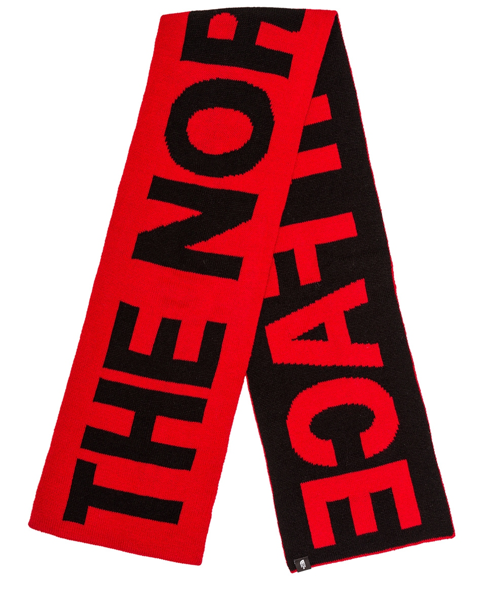 Image 1 of The North Face Logo Scarf in TNF Red & TNF Black
