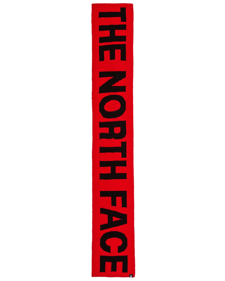 Image 2 of The North Face Logo Scarf in TNF Red & TNF Black