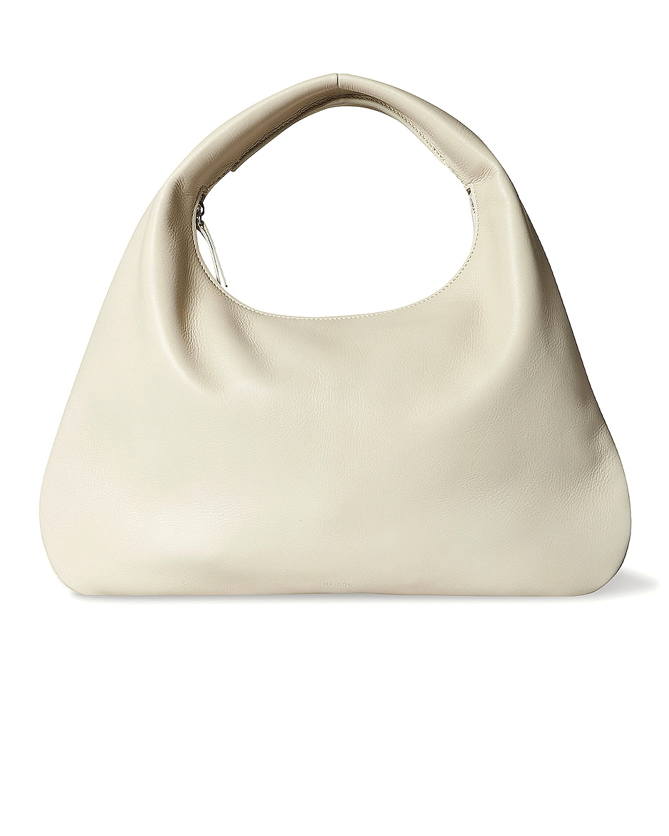 Image 1 of The Row Small Everyday Grain Leather Shoulder Bag in Ivory