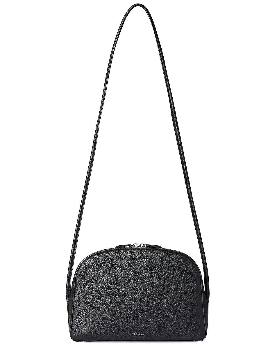 Image 1 of The Row Single Mignon Grain Leather Crossbody Bag in Black