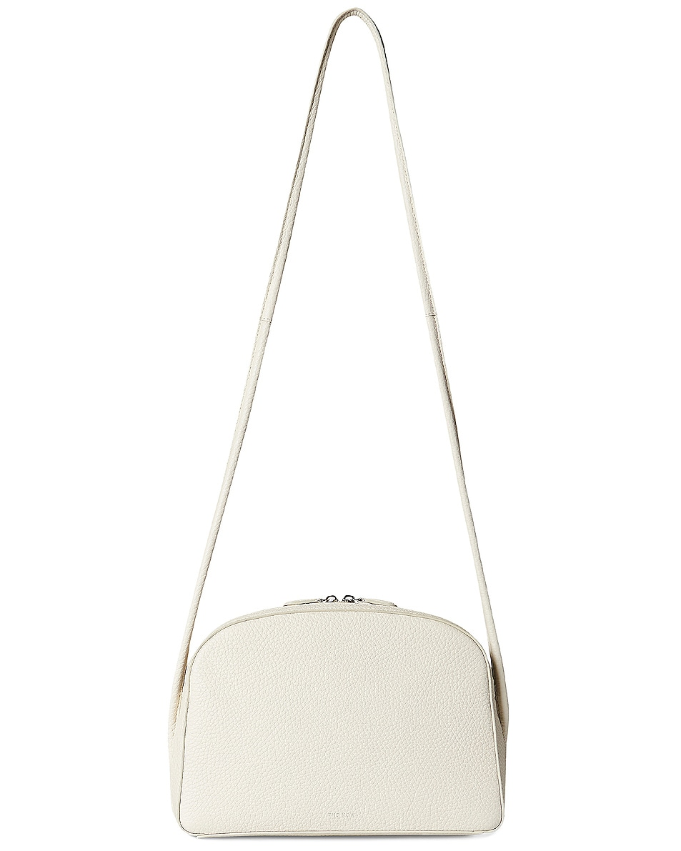 Image 1 of The Row Single Mignon Grain Leather Crossbody Bag in Ivory