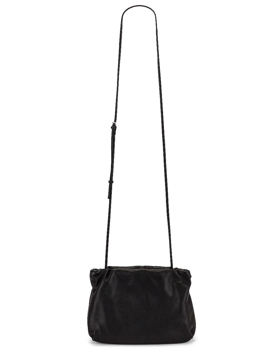 Image 1 of The Row Bourse Grain Leather Clutch in Black