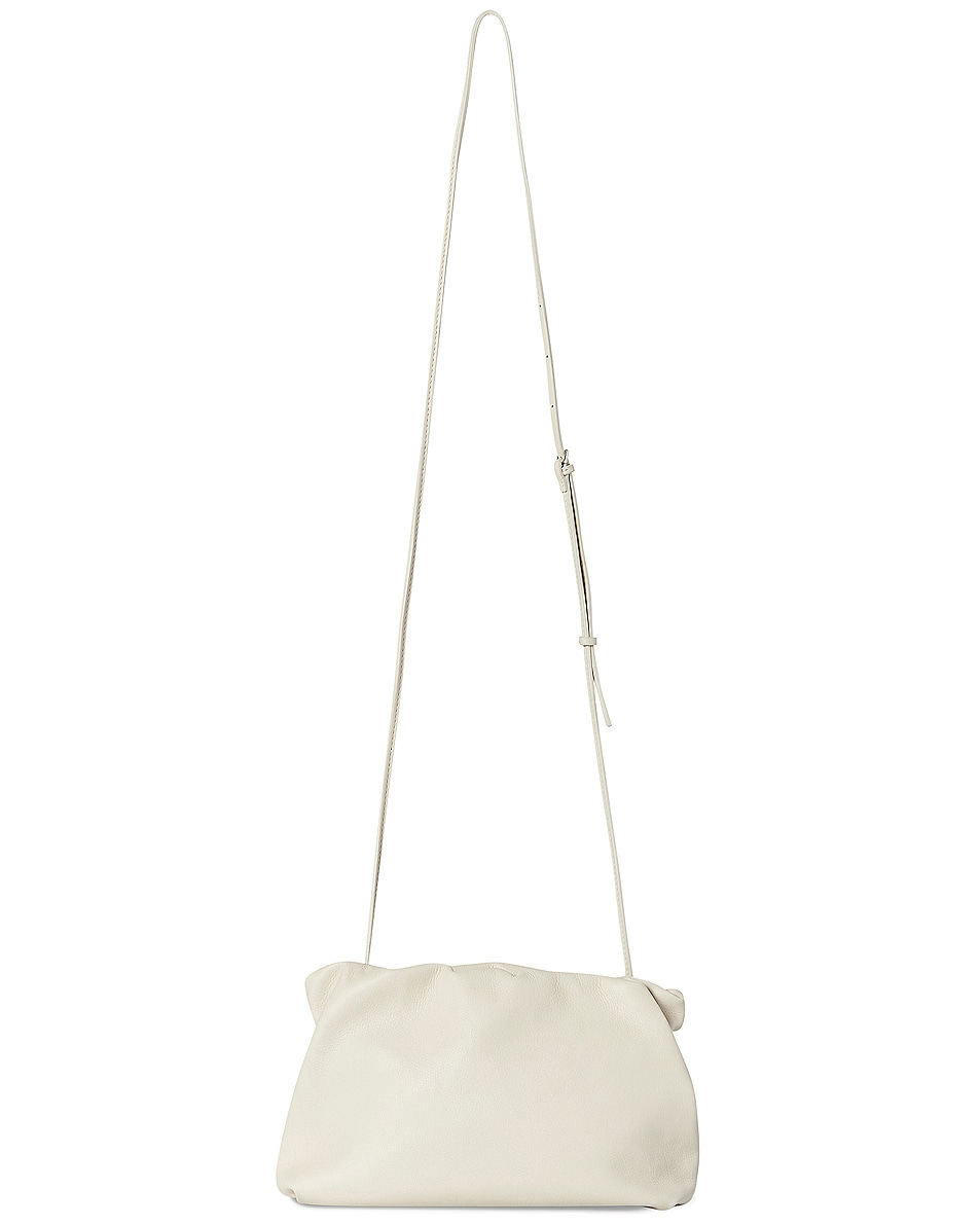 Image 1 of The Row Bourse Grain Leather Clutch in Ivory