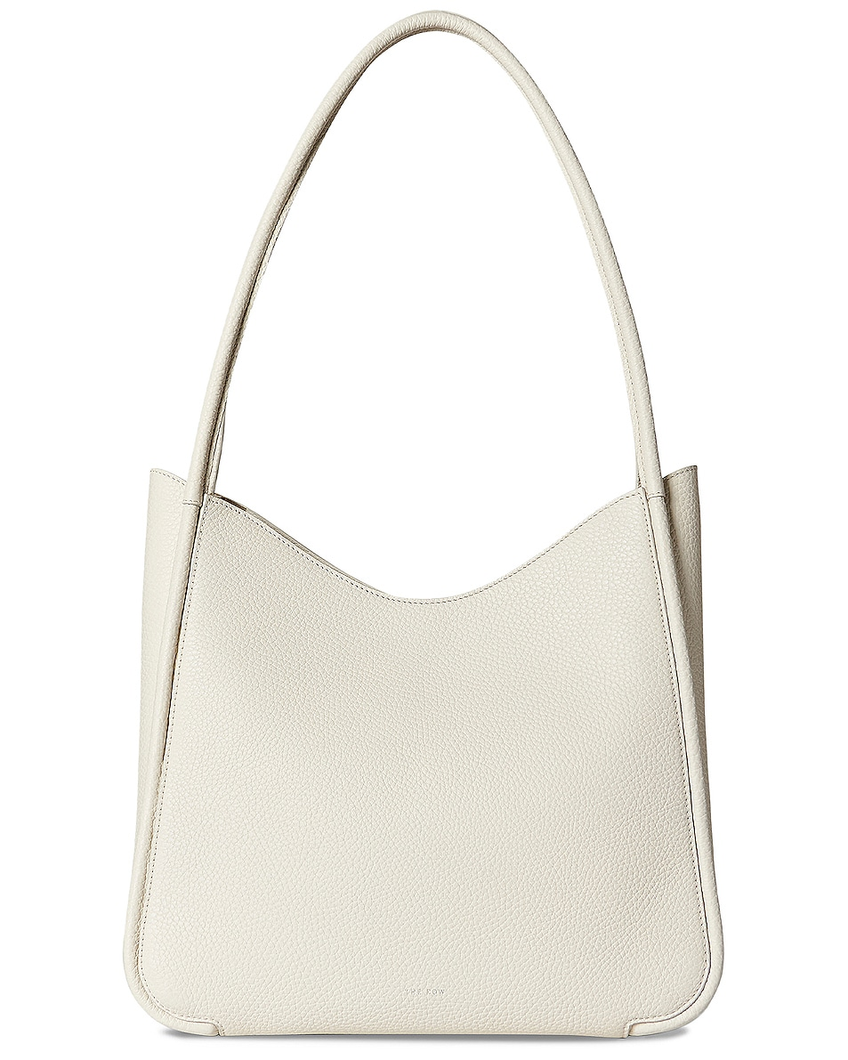Image 1 of The Row Symmetric Grain Leather Tote in Ivory