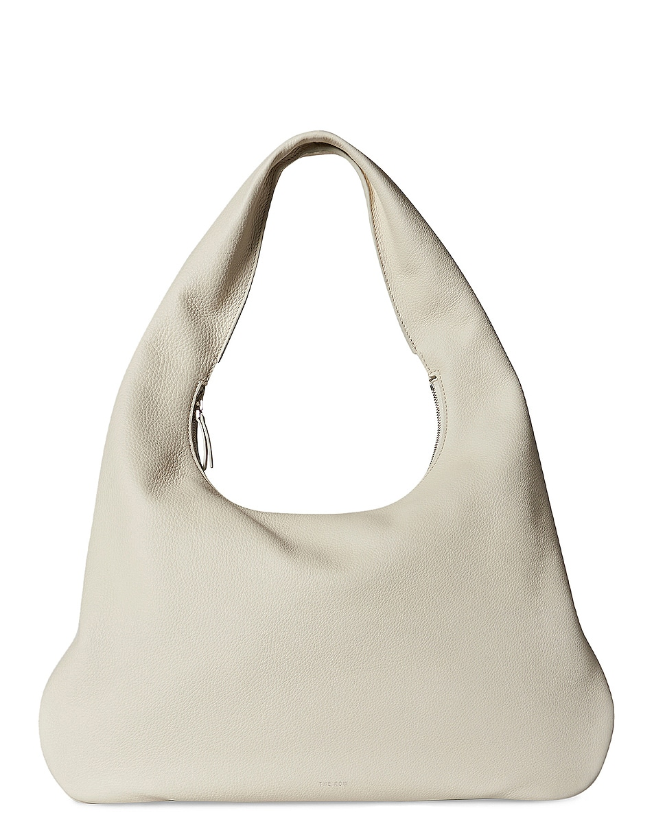 Image 1 of The Row Medium Everyday Grain Leather Shoulder Bag in Ivory