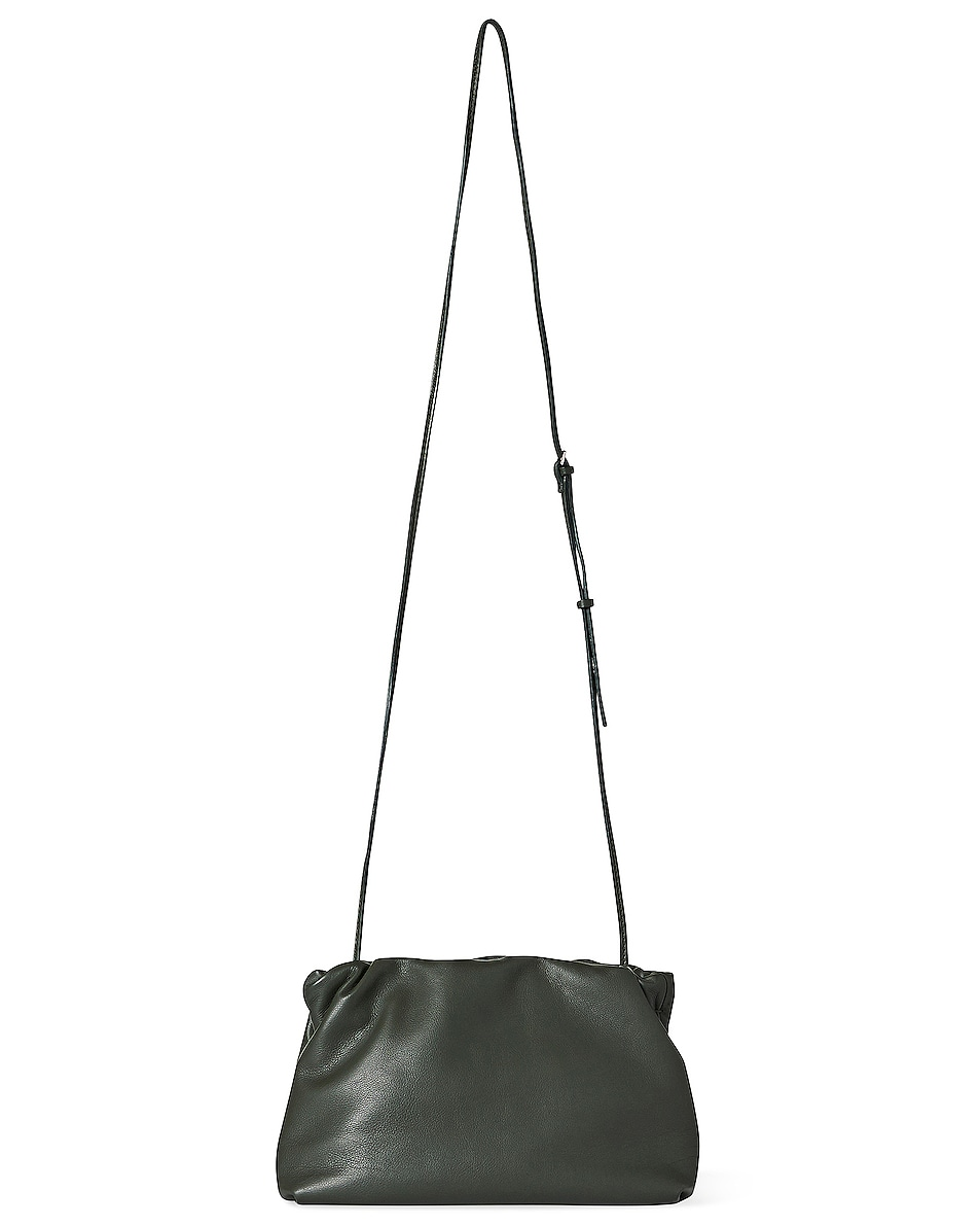 Image 1 of The Row Bourse Grain Leather Clutch in Olive