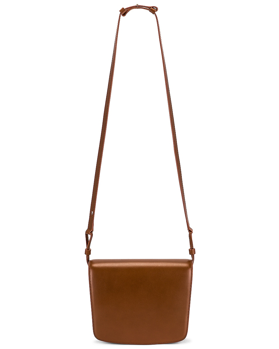 Image 1 of The Row Large Julien Leather Bag in Acorn