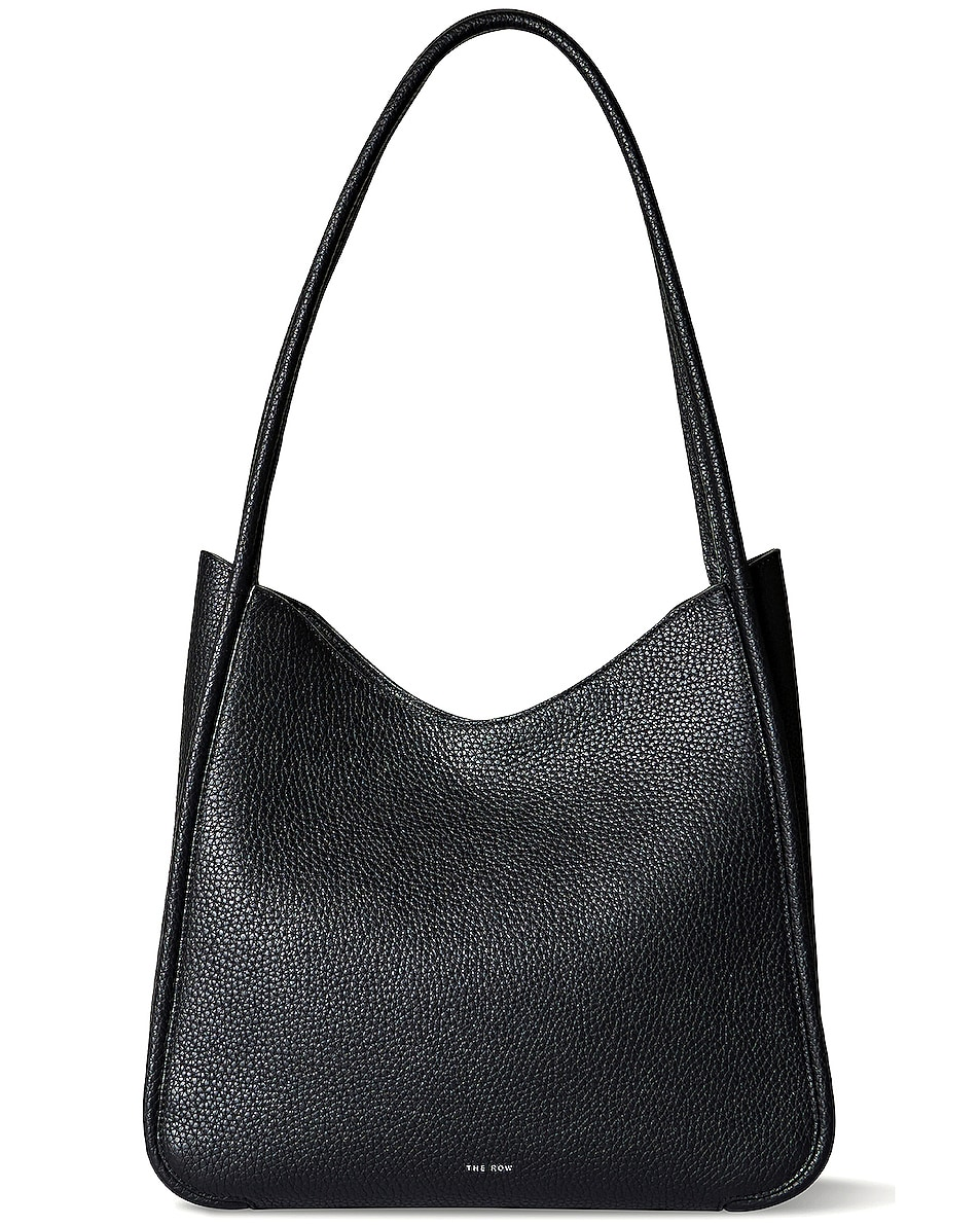 Image 1 of The Row Symmetric Grain Leather Tote in Black