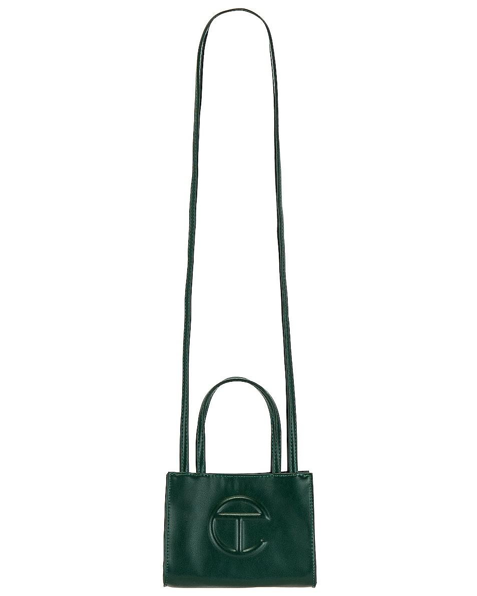 Image 1 of Telfar Small Shopper Bag in Dark Olive