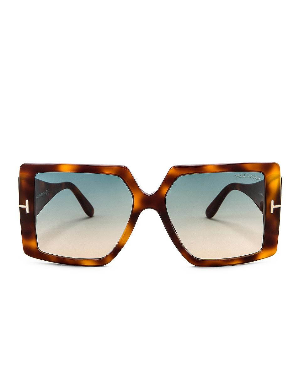 Image 1 of TOM FORD Quinn Sunglasses in Blonde Havana