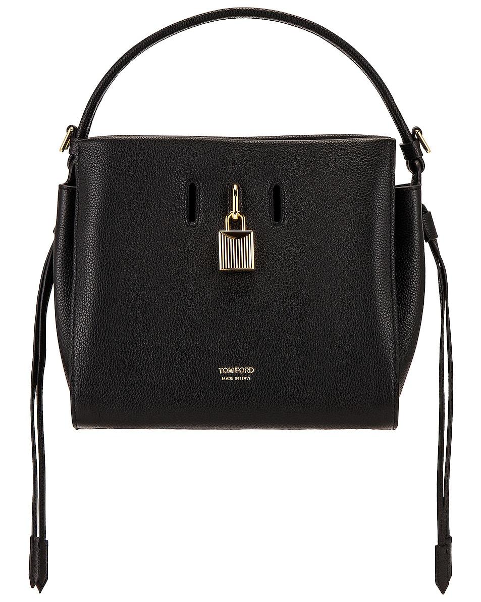 Image 1 of TOM FORD Padlock Small Top Handle Bag in Black