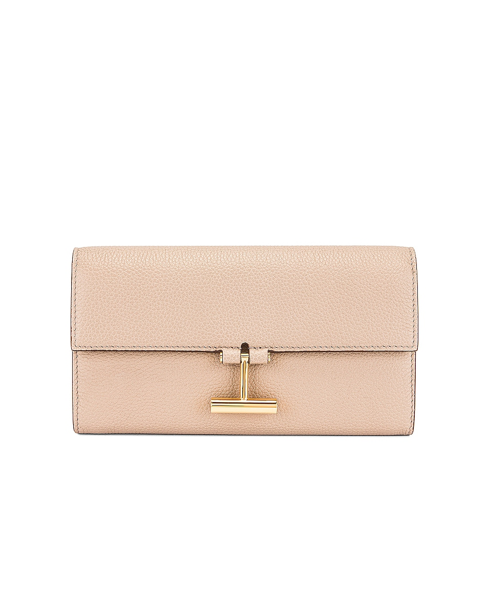 Image 1 of TOM FORD Tara Continental Wallet in Silk Taupe
