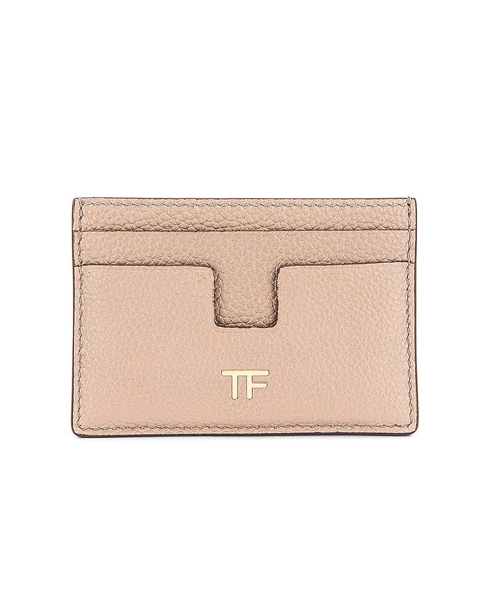 Image 1 of TOM FORD Classic TF Card Holder in Silk Taupe