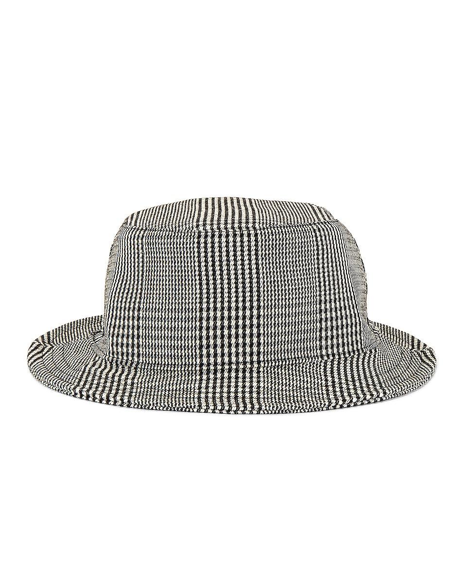 Image 1 of Thom Browne Bucket Hat in Black & White